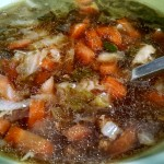 vegetable soup with bone broth base