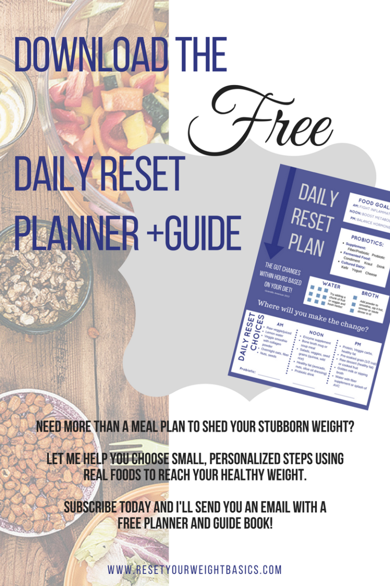 weight loss, planner, reset, real food